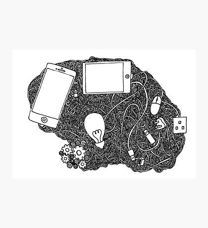 Wired brain Photographic Print