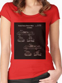 Batmobile Car Patent 1966 Women's Fitted Scoop T-Shirt