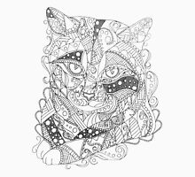 Colorable Cat Abstract Art Adult Coloring Unisex T-Shirt