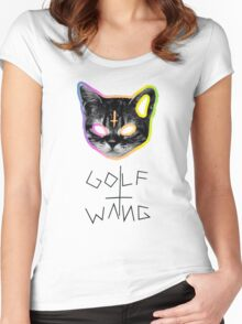 Golf Wang cat Women's Fitted Scoop T-Shirt