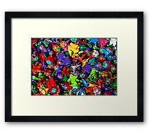 Painted Toys Framed Print