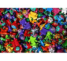 Painted Toys Photographic Print