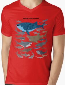 Know Your Sharks Mens V-Neck T-Shirt