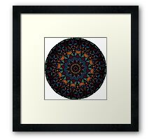 the ethnic mandala Framed Print