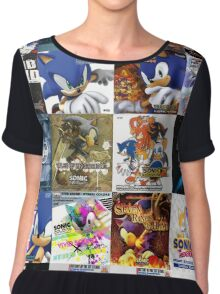 Sonic the Hedgehog - 20 Years of Album Art (with Crush 40) Chiffon Top