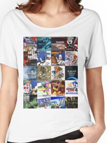Sonic the Hedgehog - 20 Years of Album Art (with Crush 40) Women's Relaxed Fit T-Shirt