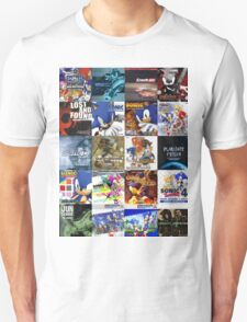Sonic the Hedgehog - 20 Years of Album Art (with Crush 40) Unisex T-Shirt
