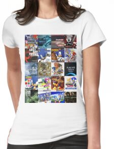 Sonic the Hedgehog - 20 Years of Album Art (with Crush 40) Womens Fitted T-Shirt