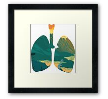 Broken Lungs Framed Print