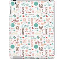 Lovely Valentine's Day Pattern iPad Case/Skin