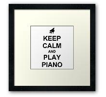 Play Piano (Black) Framed Print