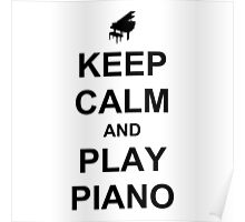 Play Piano (Black) Poster