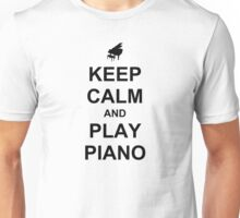 Play Piano (Black) Unisex T-Shirt