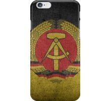 East Germany Flag Grunge iPhone Case/Skin