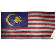 Malaysia Flag Grunge Poster