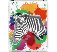 Zebra with Colorful Splashes iPad Case/Skin