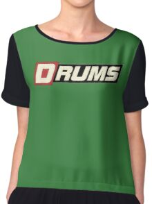 Cool Old Drums Chiffon Top