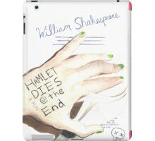 Hamlet Dies @ the End iPad Case/Skin