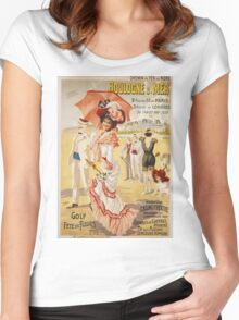 Vintage famous art - Henri Gray - Boulogne S. Mer Poster Women's Fitted Scoop T-Shirt