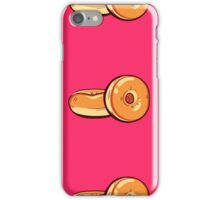 Classic Donuts On Pink Background iPhone Case/Skin