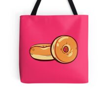 Classic Donuts On Pink Background Tote Bag