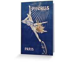 Vintage famous art - Henri Gray - Phebus Paris Poster Greeting Card