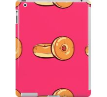 Classic Donuts On Pink Background iPad Case/Skin
