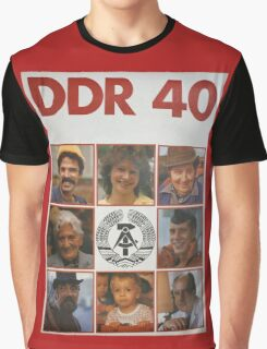 DDR 40, 40 years East Germany, Propaganda Poster 1989 Graphic T-Shirt