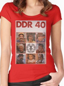 DDR 40, 40 years East Germany, Propaganda Poster 1989 Women's Fitted Scoop T-Shirt