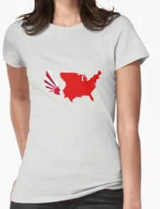 The Man in the High Castle Map Womens Fitted T-Shirt
