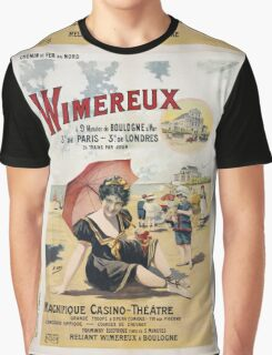 Vintage famous art - Henri Gray - Wimereux Travel Poster Graphic T-Shirt