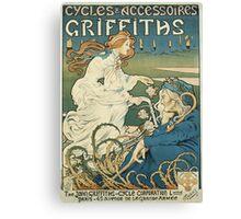 Vintage famous art - Henri Thiriet - Cycles Et Accessoires Griffiths Poster Canvas Print