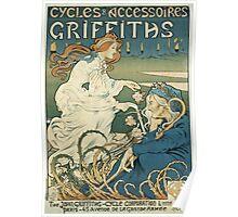 Vintage famous art - Henri Thiriet - Cycles Et Accessoires Griffiths Poster Poster