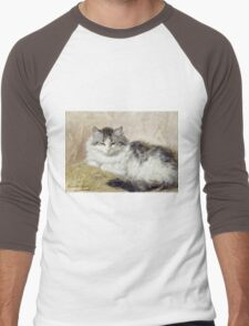 Vintage famous art - Henriette Ronner - A Cat Men's Baseball ¾ T-Shirt