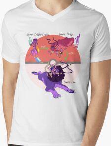Fire & Grass Type Mens V-Neck T-Shirt