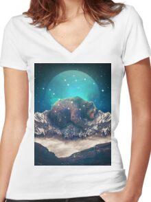 Under the Stars (Ursa Major) Women's Fitted V-Neck T-Shirt