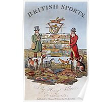 Vintage famous art - Henry Alken - The National Sports Of Great Britain Poster