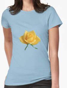 Beautiful yellow rose Womens Fitted T-Shirt