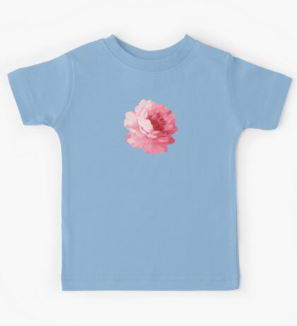 Flower pink peony Kids Tee