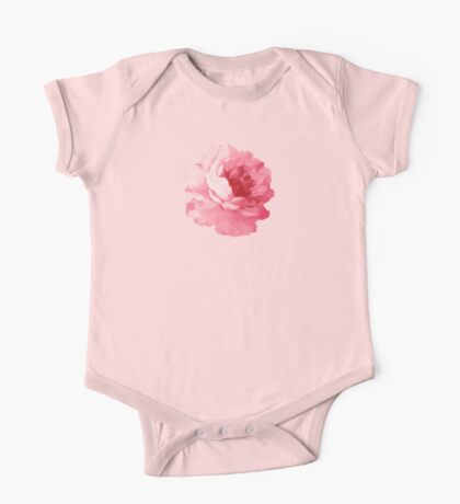 Flower pink peony One Piece - Short Sleeve