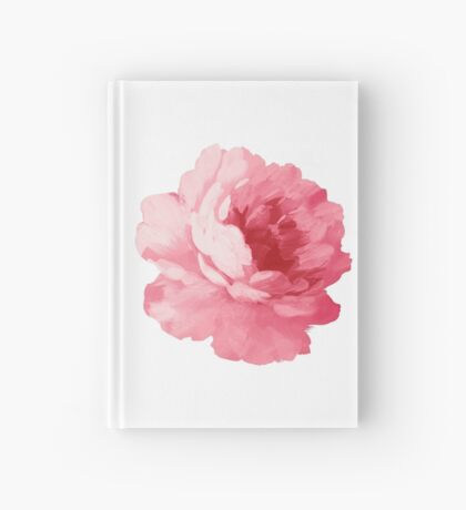 Flower pink peony Hardcover Journal