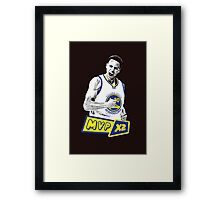 Steph Curry - NBA MVP x2 Framed Print