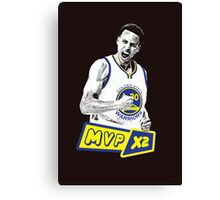 Steph Curry - NBA MVP x2 Canvas Print