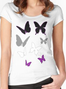 Ace Butterflies Women's Fitted Scoop T-Shirt