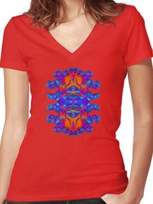Abstract Reflections Women's Fitted V-Neck T-Shirt