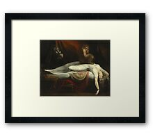 Vintage famous art - Henry Fuseli - The Nightmare 1781  Framed Print