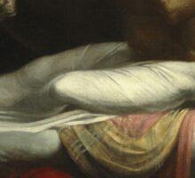 Vintage famous art - Henry Fuseli - The Nightmare 1781  Sticker