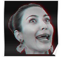 Kim Kardashian 3D Poster