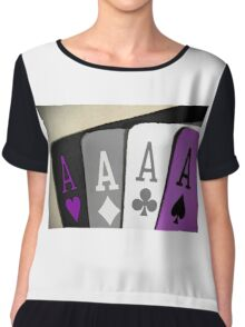 The Asexuality Blog - Four Aces Logo Chiffon Top