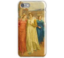 Vintage famous art - Henry Holiday - Dante And Beatrice 1882 iPhone Case/Skin